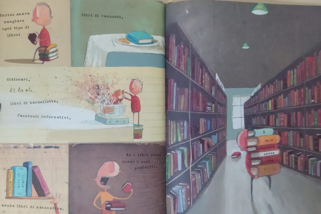 bimbo mangia libri